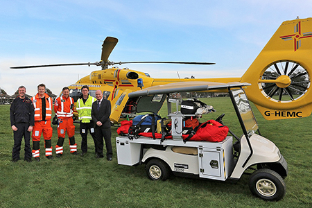 'Golf car' adapted for trauma patients