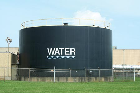 Protecting water tanks from bacterial growth