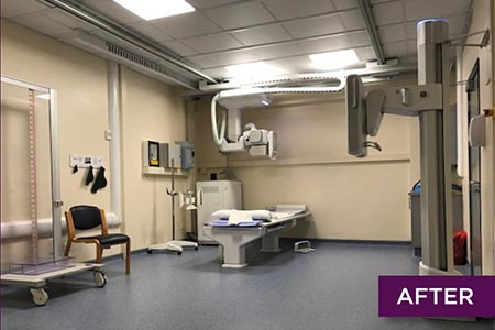'Dated' X-ray room transformed